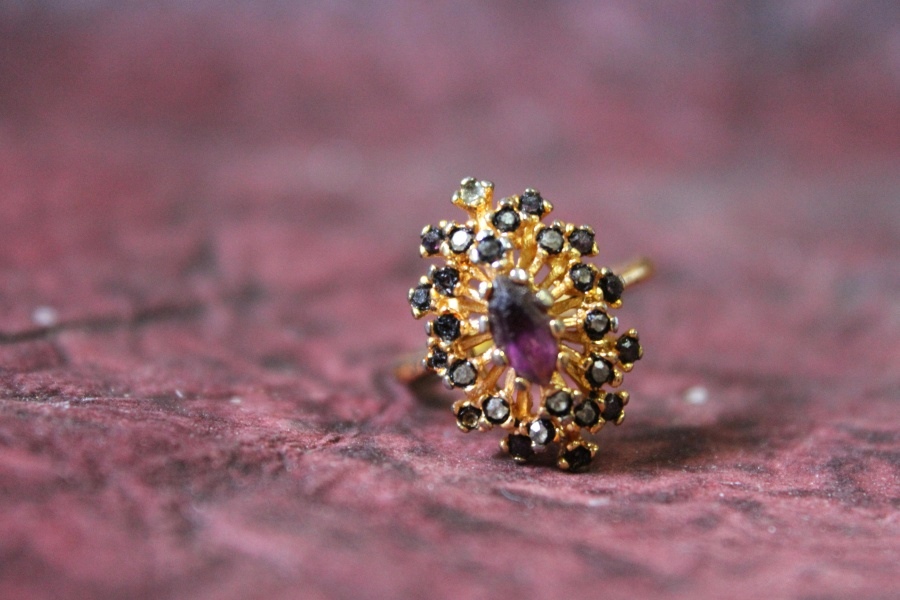 jewelry, ring, gold, purple, diamond, luxury