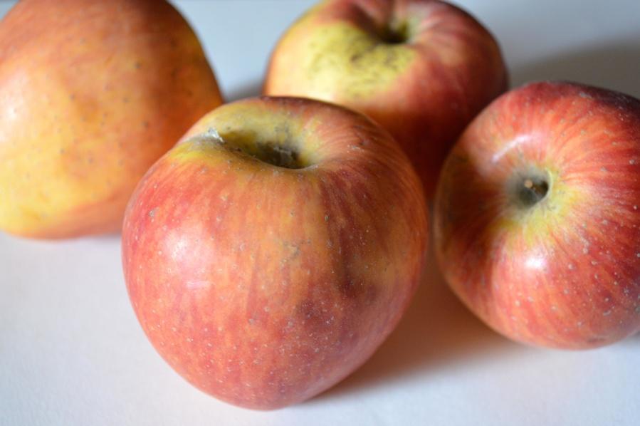 červená, jablko, lahodné, ovoce, potraviny