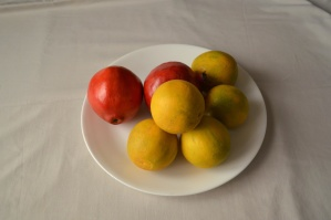 fruit, food, citrus, lemon, pomegranate, diet
