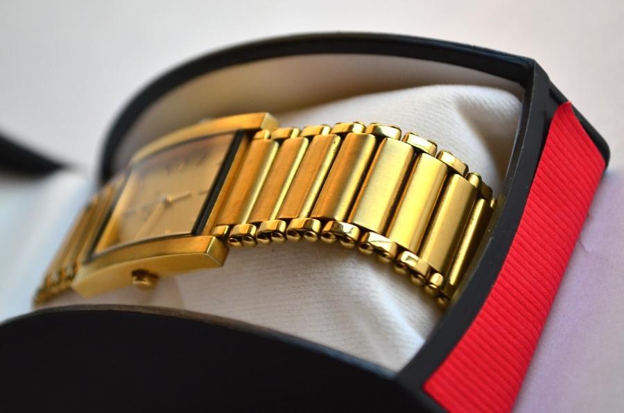 gold, wristwatch, box, luxury, gift