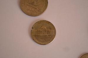 Moneta metallica, soldi, valuta, vecchio