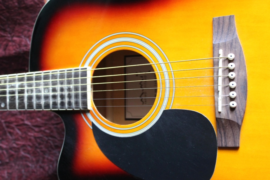acoustic guitar, music instrument, sound, melody
