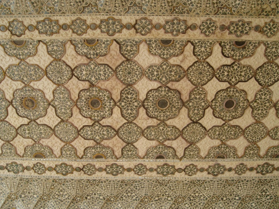 Marbre, texture, Inde, carreau, motif, arabesque, décoration