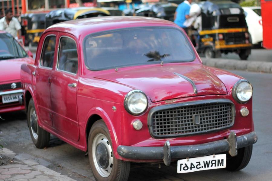 oldtimer, car, street, India, vehicle