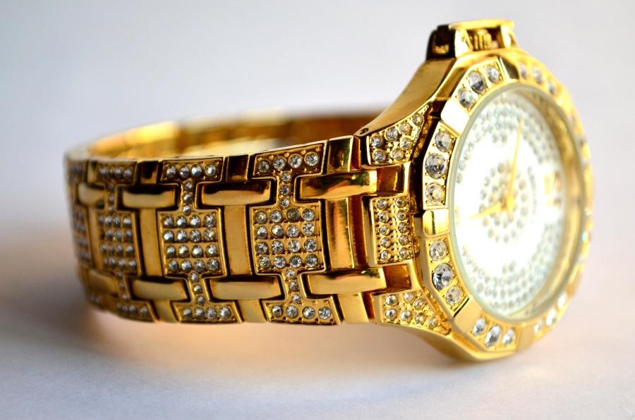 wristwatch, jewelry, gold, luxury, clock