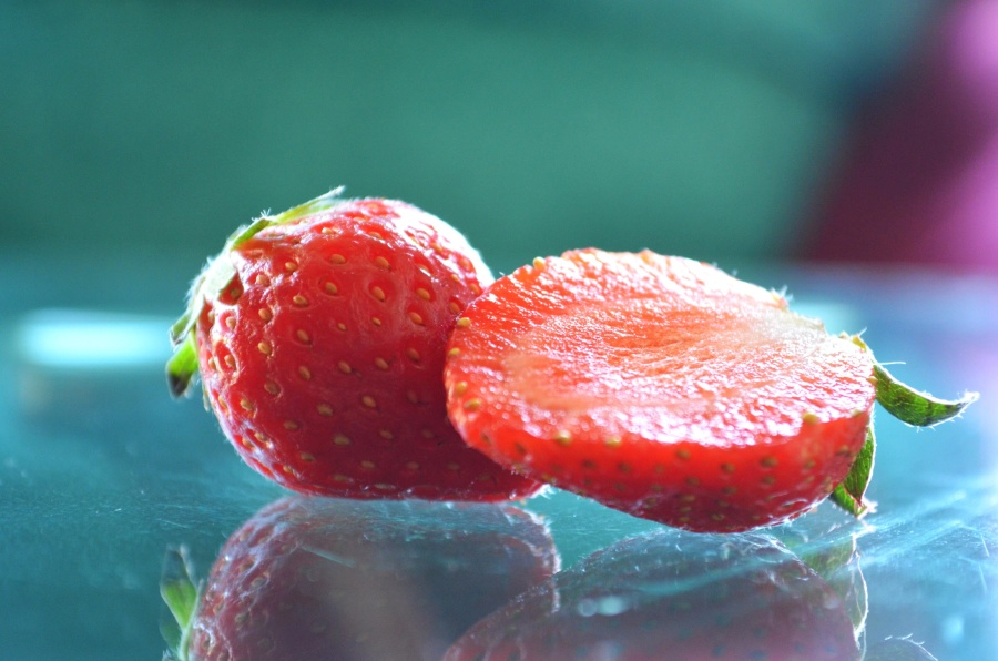 fruit, strawberry, red, food, sweet, diet, glass