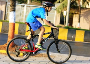 boy, bicycle, sport, street, helmet, recreation
