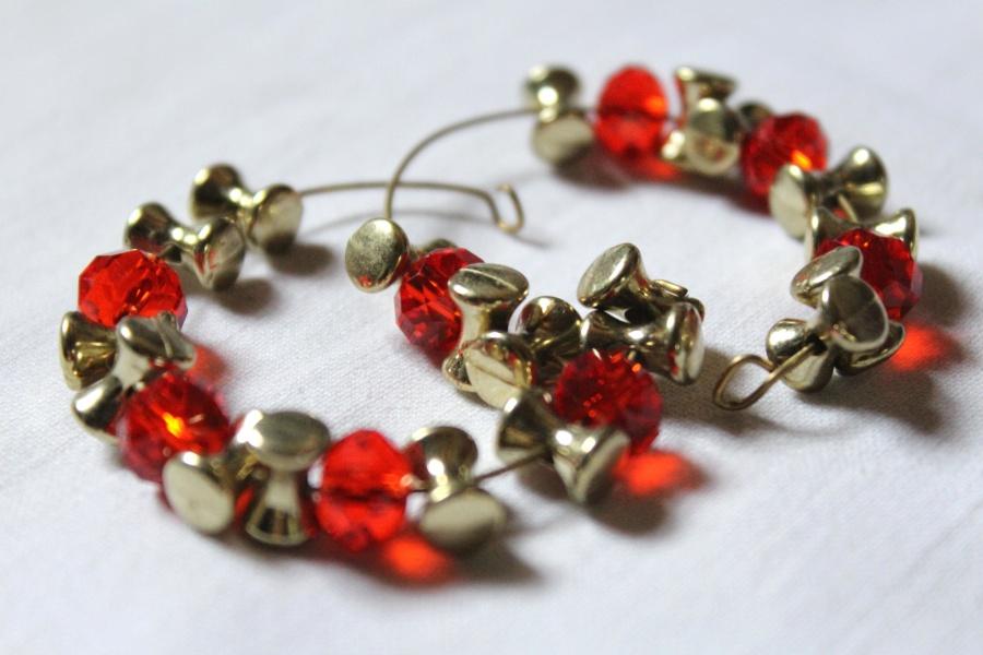 jewelry, bracelet, red, stone, gold, diamond, crystal