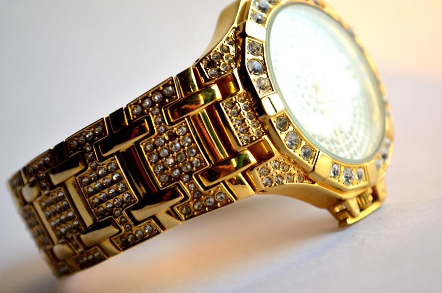 jewelry, wristwatch, gold, diamonds