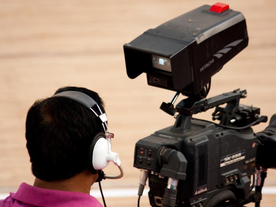 cameraman, equipment, video camera, television, photographer