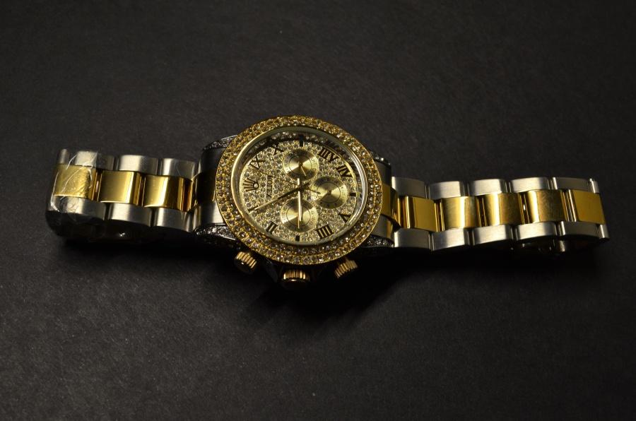 caro, relógio de pulso, ouro, luxo, diamante