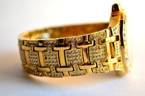 gold, wrist watch, luxury, brilliant, diamond, expensive