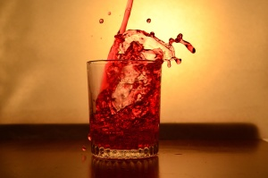 red, liquid, fruit juice, glass, beverage, drink