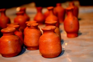pottery, ceramics, handmade, red, earth, object