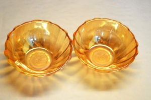 orange color, bowl, glass, object, crystal