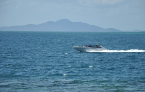 speedboat, sea, boat, motorboat, blue, horizon, ocean