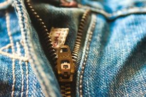 Pantaloni jeans, blu, tessile, materiale, oggetto, macro
