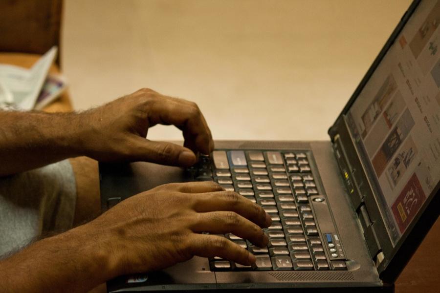 laptop computer, hand, work, programer, software, Internet