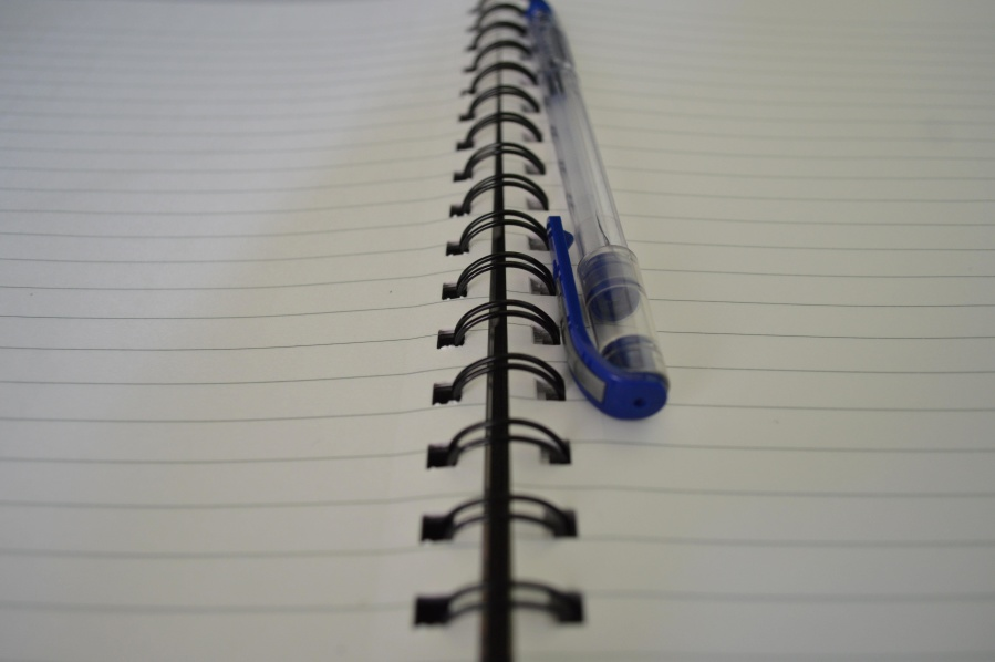 pencil, spiral, notebook, white, paper
