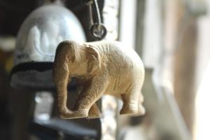 seni, patung, gading, dekorasi, gajah, batu, patung