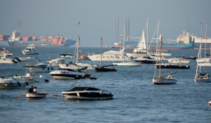 sea, boat, yacht, sailboat, cargo ship, harbor