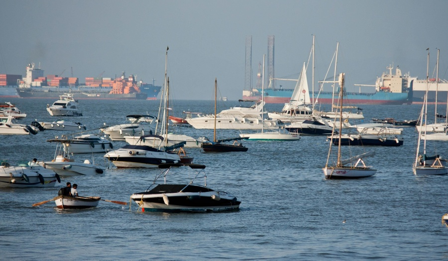 sea, boat, yacht, sailboat, cargo ship, harbor