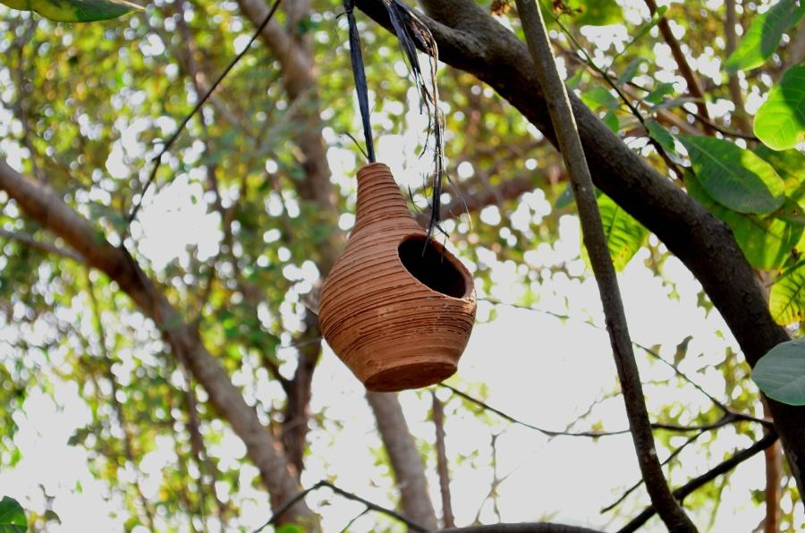 pottery, handmade, ceramic, hanging, tree, object