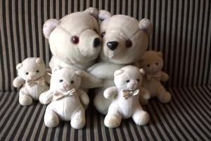 teddy bear, happy, family, toy