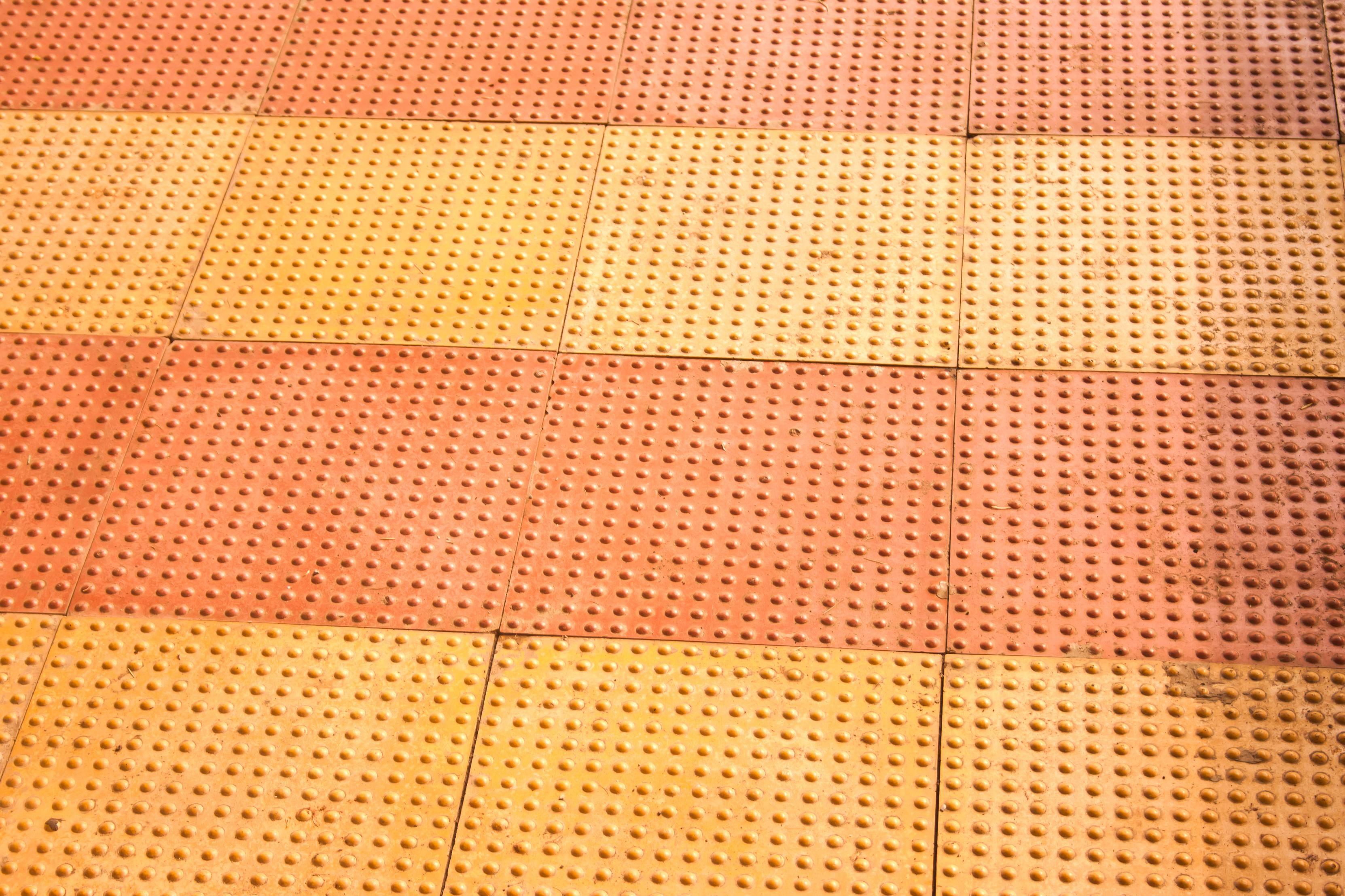 Image libre: Carrelage, plastique, texture, couleur orange, jaune ...