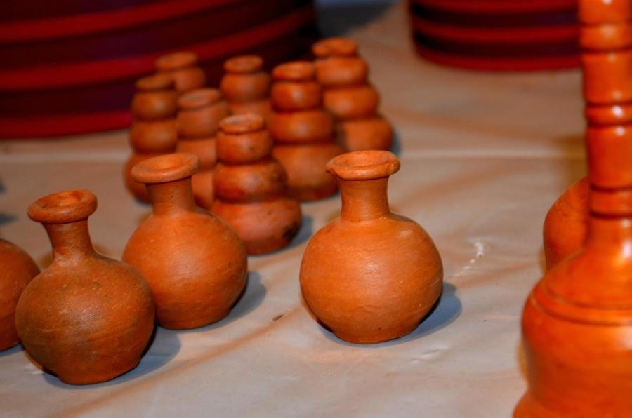 earth pots, pottery, bottle, art, handmade, craft