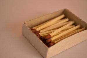 fosfor, oheň, kartonu, objektu, box