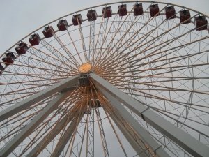 amusement park, metal, construction, steel, object, wheel