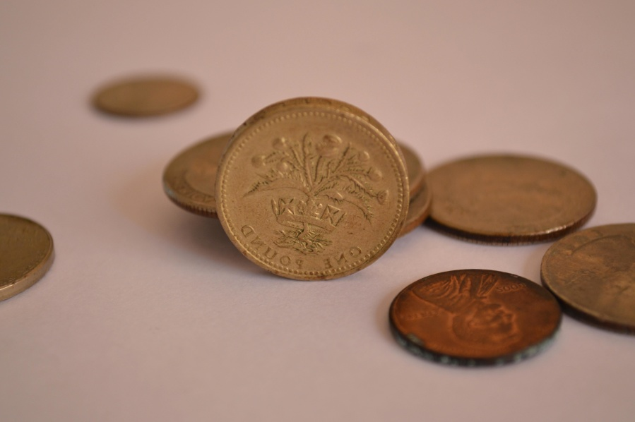 United Kingdom, money, cash, metal coin, economy