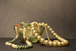 pearl, necklace, jewelry
