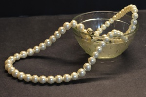 bowl, pearl, necklace, luxury, jewelry