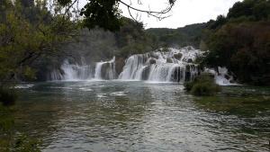 Paisaje, agua, cascada, río