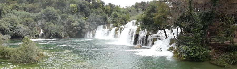 waterfall, river, water, stream, forest, landscape, lake