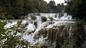 Cachoeira, Rio, água, paisagem, montanha, floresta, fluxo