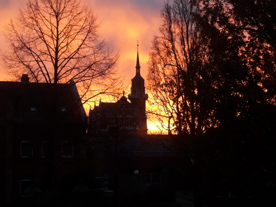 church, tower, structure, architecture, dusk