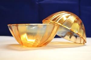 nowoczesny design, kryształ, miska, obiektu, szkło