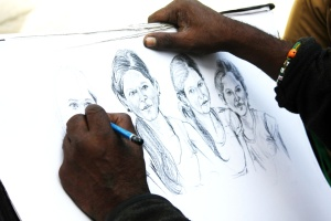 artist, sketch, art, painting, portrait, drawing