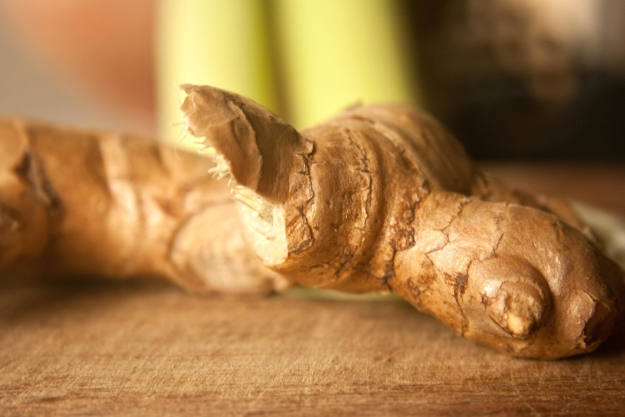 ginger, root, food, spice