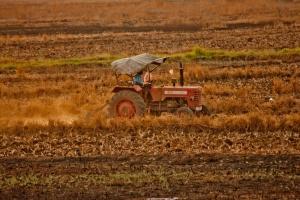 Tractor, máquina, arado, herramienta, tierra, campo, vehículo