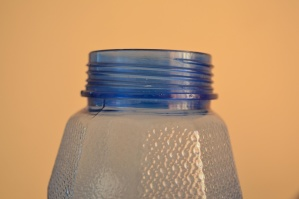 bottle, top, plastic, blue, object
