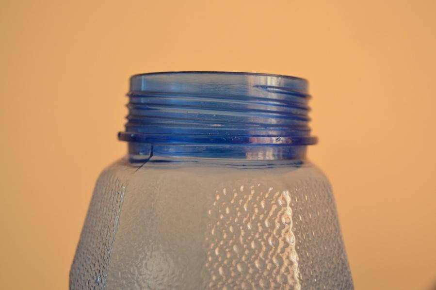bottle, top, plastic, blue, object
