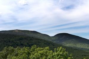 Hill, Les, modrá obloha, příroda, krajina, strom, hory, údolí, obloha