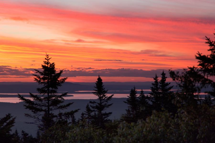 dusk, sunset, nature, landscape, sky, cloud