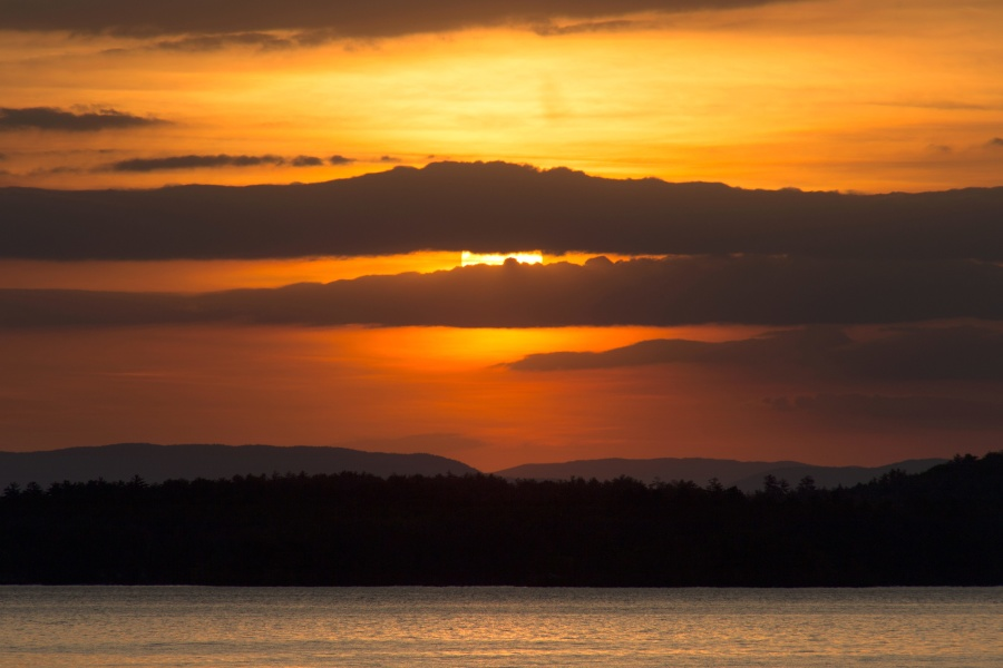 dusk, sunset, nature, landscape, sunset, sunlight, sky, clouds, sun