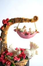 Colomba, oggetto, giocattolo, colorito, amore, romanticismo