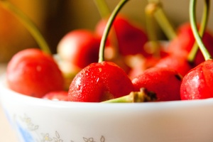 cherry, bowl, fruit, food, red, cherry, diet, dessert, vitamin